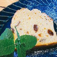 レモンハートラムレーズンのパウンドケーキの画像